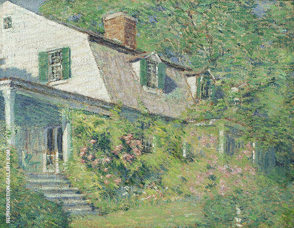 Springtime The Artist�s Home Old Lyme Painting By Clark Voorhees