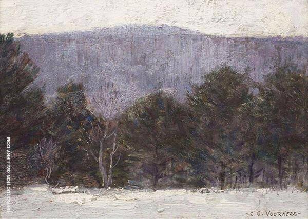 Winter Berkshire Landscape Painting By Clark Voorhees