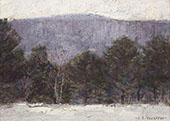 Winter Berkshire Landscape By Clark Voorhees