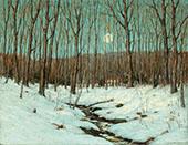 Winter Moonrise By Clark Voorhees