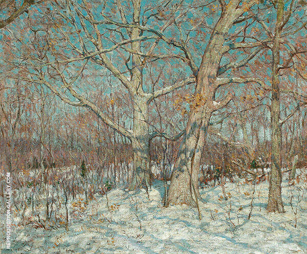 Winter Scene Old Lyme Painting By Clark Voorhees - Reproduction Gallery