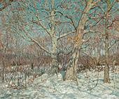 Winter Scene Old Lyme By Clark Voorhees