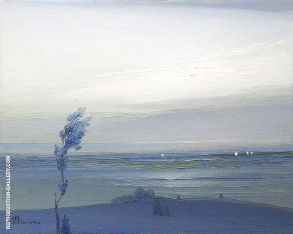 Across The Hudson 1905 Painting By Leon Dabo - Reproduction Gallery