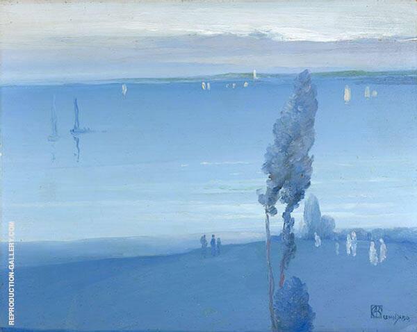 Hudson River 1918 By Leon Dabo