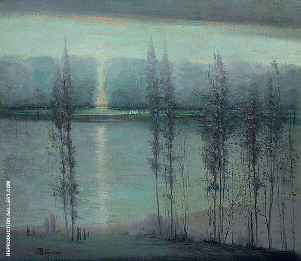 Midsummer Night Painting By Leon Dabo - Reproduction Gallery