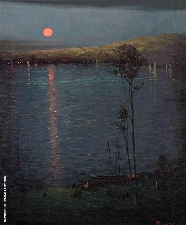 Moon on The Lake 1907 Painting By Leon Dabo - Reproduction Gallery