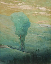 On The Hillside By Leon Dabo
