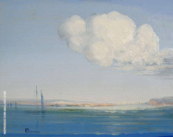 Open Gulf Hudson River Painting By Leon Dabo - Reproduction Gallery
