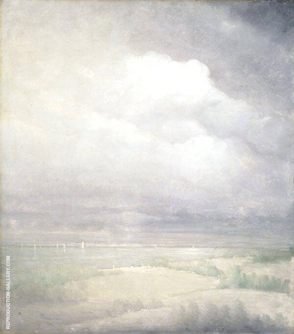 Silver Light Hudson River 1911 Painting By Leon Dabo