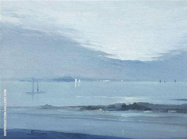 The Sea Painting By Leon Dabo - Reproduction Gallery