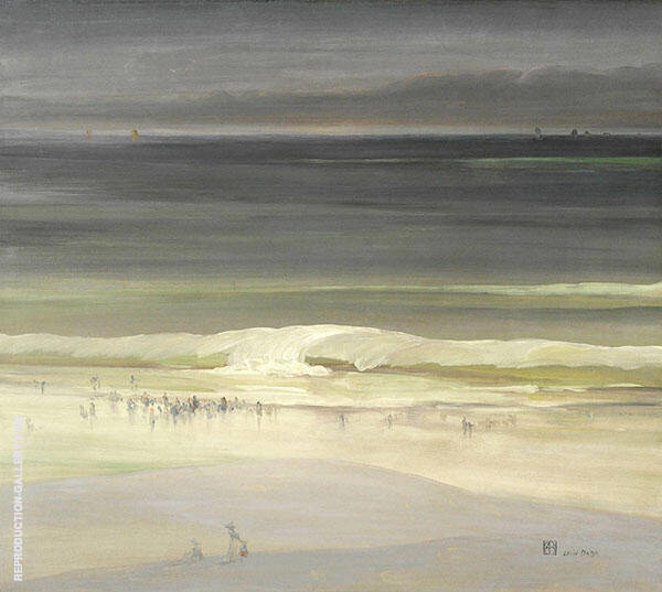 The Seashore 1900 Painting By Leon Dabo - Reproduction Gallery