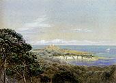 Pointe St Hospice Cap Ferrat From St Jean By John Brett