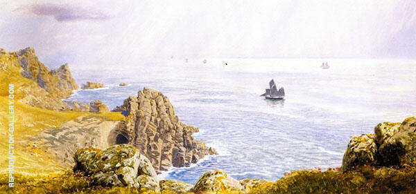 Summer Mists off Tol Pen By John Brett