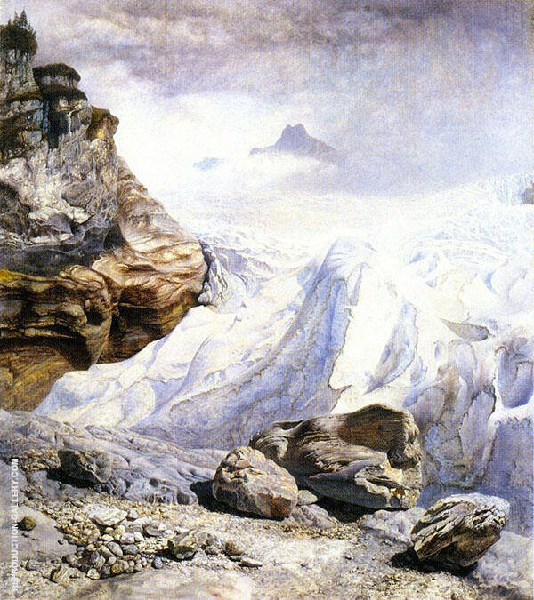 The Glacier of Rosenlaui By John Brett