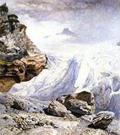 The Glacier of Rosenlaui By John Brett