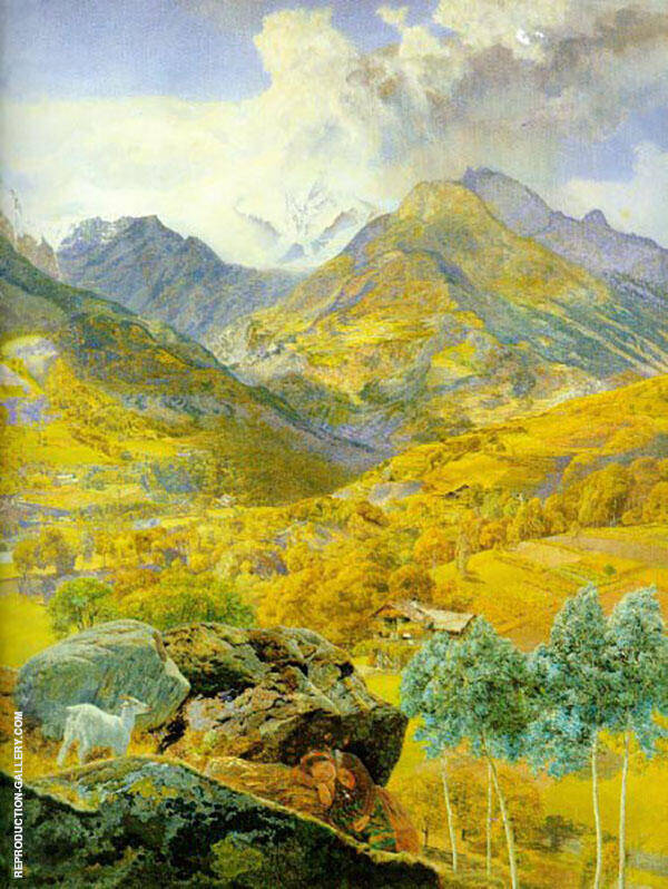 The Val d Aosta 1858 By John Brett