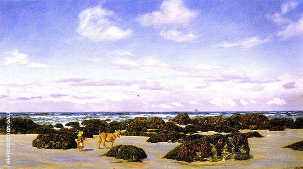 View on The Beach at St Agnes By John Brett