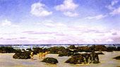 View on The Beach at St Agnes By John Brett