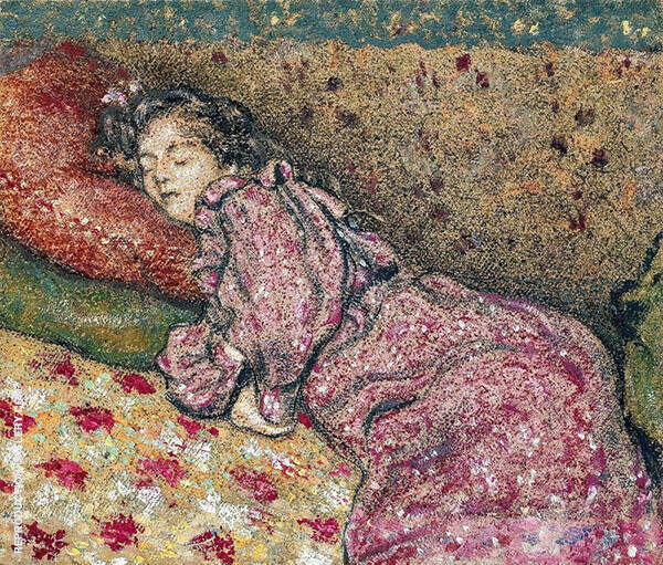 Endormie Painting By Georges Lemmen - Reproduction Gallery