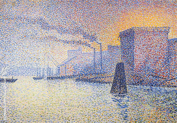 Factories on The Thames Painting By Georges Lemmen - Reproduction Gallery