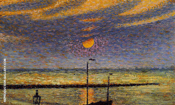 Heyst No19 Clear Night Moon 1891 Painting By Georges Lemmen