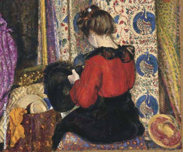 La Modiste Painting By Georges Lemmen - Reproduction Gallery