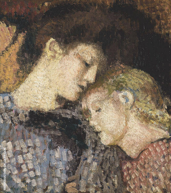 Madame Georges Lemmen et Lise Painting By Georges Lemmen
