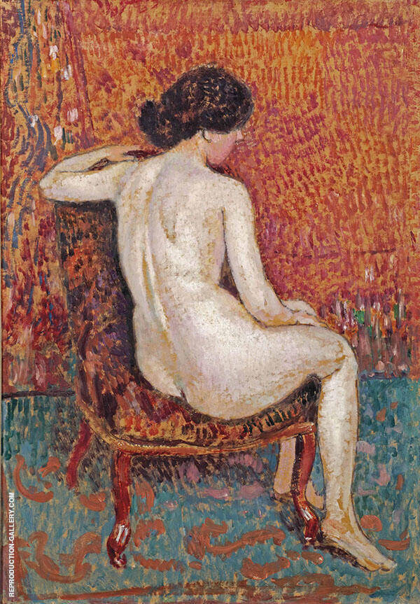 Nude c1910 Painting By Georges Lemmen - Reproduction Gallery
