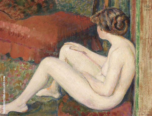 Nude Study 1895 Painting By Georges Lemmen - Reproduction Gallery