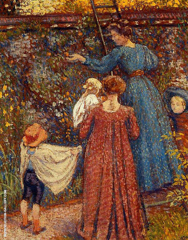Picking Fruit 1906 Painting By Georges Lemmen - Reproduction Gallery