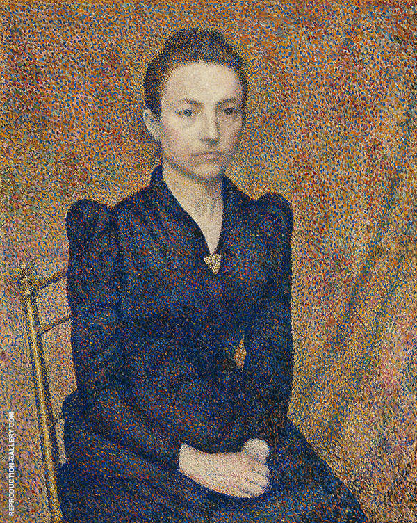Portrait of The Artist's Sister Painting By Georges Lemmen