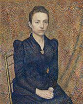 Portrait of The Artist's Sister By Georges Lemmen