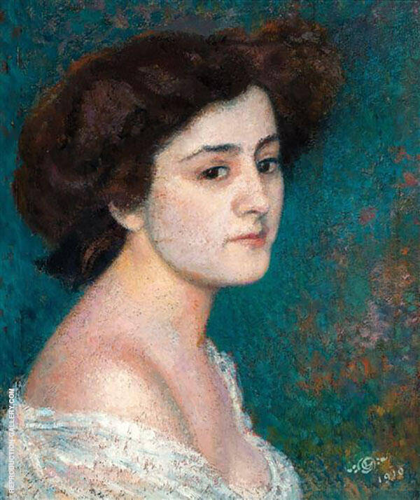 Potrait of a Lady 1910 Painting By Georges Lemmen - Reproduction Gallery