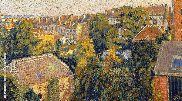 Rooftops 1906 Painting By Georges Lemmen - Reproduction Gallery