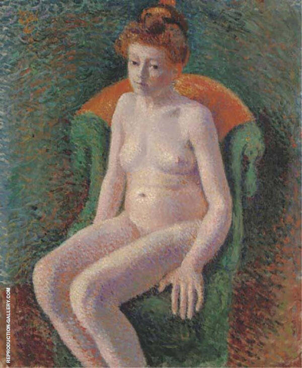 Seated Nude Painting By Georges Lemmen - Reproduction Gallery