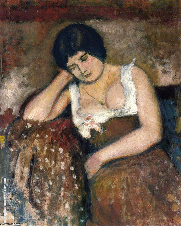 Seated Woman 1898 Painting By Georges Lemmen - Reproduction Gallery