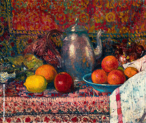 Still Life c1907 Painting By Georges Lemmen - Reproduction Gallery