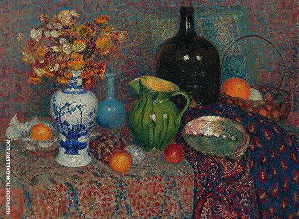 Still Life with Immortals Painting By Georges Lemmen