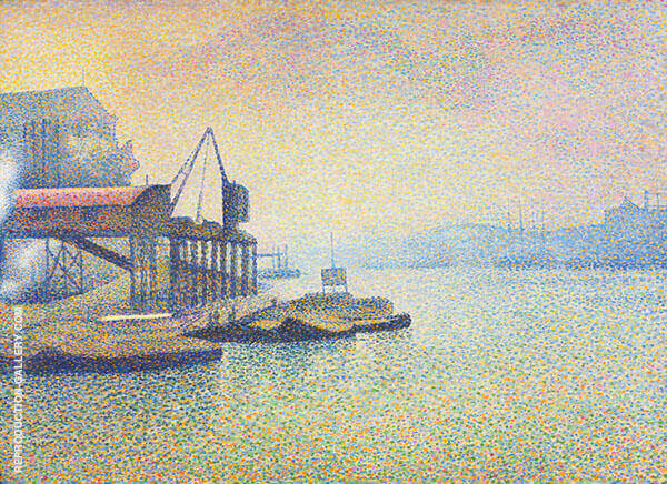 Thames Scene The Elevator c1890 Painting By Georges Lemmen
