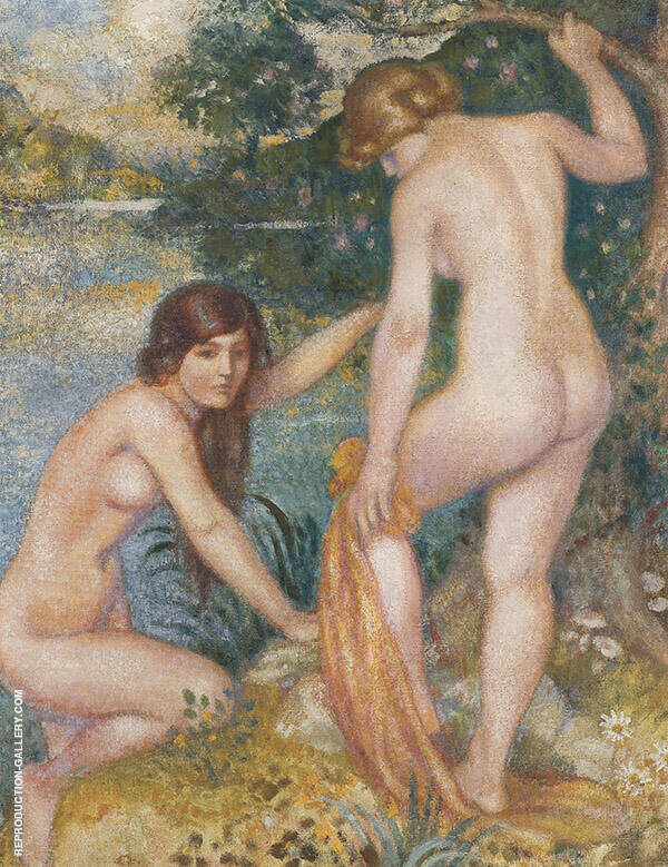 The Bathers Painting By Georges Lemmen - Reproduction Gallery