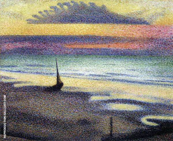 The Beach at Heist Painting By Georges Lemmen - Reproduction Gallery