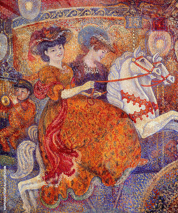 The Carousel Painting By Georges Lemmen - Reproduction Gallery