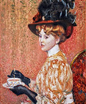The Cup of Tea By Georges Lemmen
