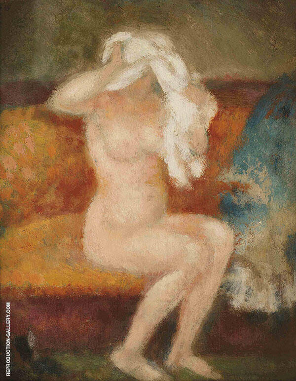 The Shirt Removed Painting By Georges Lemmen - Reproduction Gallery