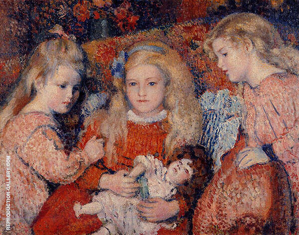 Three Little Girls 1907 Painting By Georges Lemmen - Reproduction Gallery