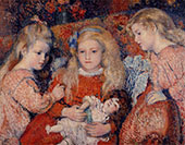 Three Little Girls 1907 By Georges Lemmen