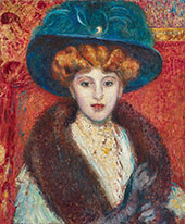 Woman with Blue Hat By Georges Lemmen