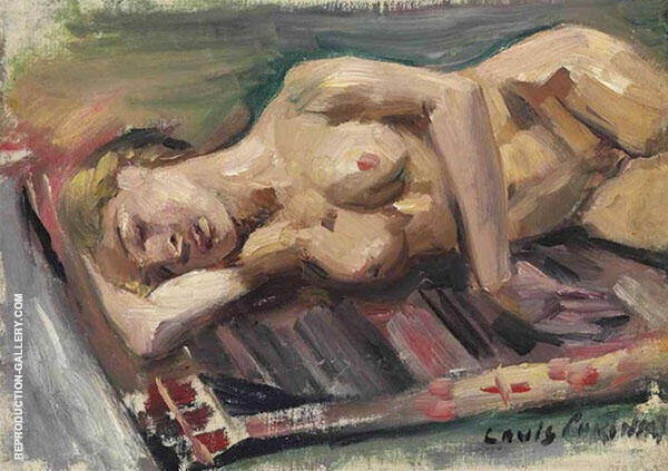 Female Semi Nude 1913 Painting By Lovis Corinth - Reproduction Gallery