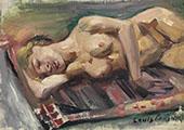Female Semi Nude 1913 By Lovis Corinth