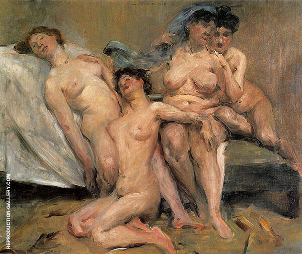 Group of Women 1904 Painting By Lovis Corinth - Reproduction Gallery